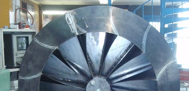 dynamic balancing large industrial fan impeller